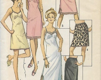 1970 Simplicity 9115 Women's Slip And Half-Slip In Three Lengths, Sewing Pattern, Bust 44, UNCUT