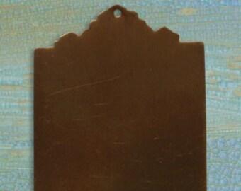 DESTASH SALE: Vintaj Brass 53x30mm Large Ornate Tag Altered Blank - set of 3