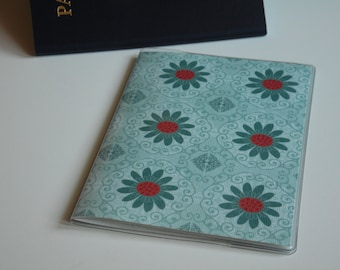US Passport Case Passport Cover, Turquoise and Coral Flowers, Passport  Sleeve, Case, Holder