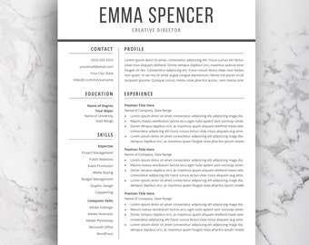 Modern Resume Template For Word | CV Template | Simple U0026 Professional  Resume Layout | Word