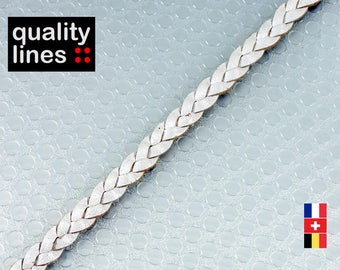 X 18 CM, 5mm flat leather white braided, 18cm is enough to make a bracelet up to size XL