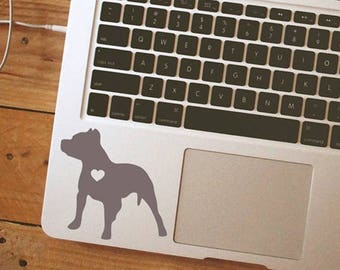 Pit Bull Heart Dog iPhone Car Laptop Vinyl Decal Sticker pitbull sticker dog decal pit bull decal with heart