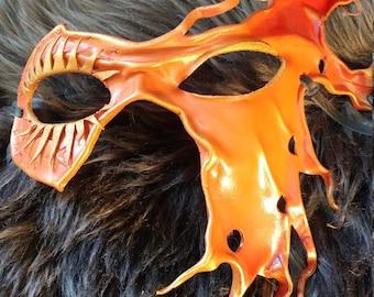 Masquerade half leather mask