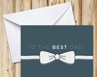 Best Dad, Fathers Day, Greeting Card, Postcard, Instant Download, Digital File