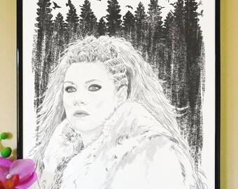 Lagertha Art Print