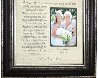 In-Laws Wedding Gift, Mom Wedding Gift, Mother of Bride Gift, Parent Wedding Gift, Wedding Gifts Parents, Parents of the Bride Gift, 16x16