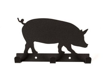 Farm Decor / Pig Sign / Pig Key Holder
