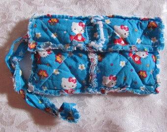 Hello Kitty Butterflies inspired Clutch bag Cell Phone Case Wristlet Girls Gift For Her  Gift Stocking Filler