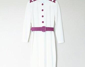 1980s Vintage X Detail Dress