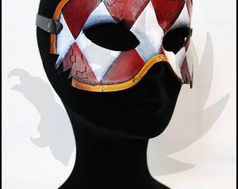 Harlequin leather mask