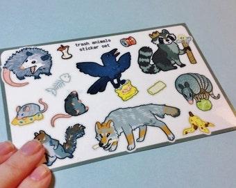 Trash Animals Sticker Sheet
