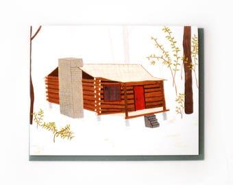 Log Cabin Card