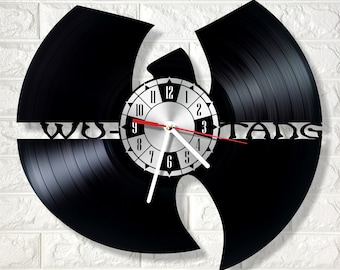 Wu-Tang Clan wall clock made out of real vinyl record wonderful gift for any occasion