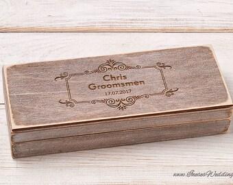 Groomsmen Gift Box Personalized Cigar Box Will You be My Groomsman Custom Cigar Box Best Man Gift Groomsman Cigar Gift Box Wedding Gift Box