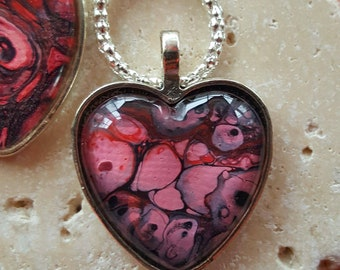 So Pink Heart Pendant Necklace