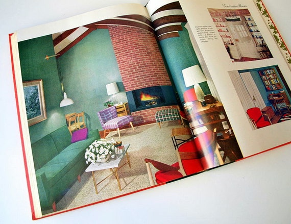 Vintage 1959 Ladies Home Journal Book Of Interior Decoration MID CENTURY MODERN Decorating Eames Era 1950s Reference Furniture Photos From