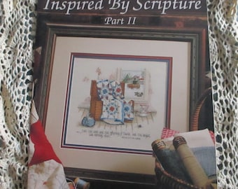 Leisure Arts Leaflet 2511 Book 54 Inspired By Scripture Part 2 Designs By Paula Vaughan Patterns Religion Bible Cross Stitch
