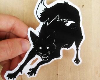 Shadow fox-  10cm Gloss Vinyl Sticker