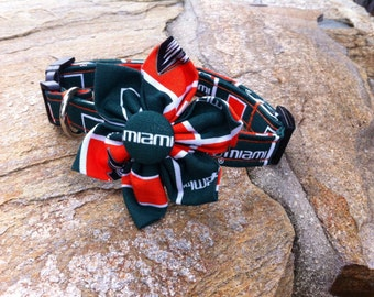 University of Miami Fabric Flower Accessory