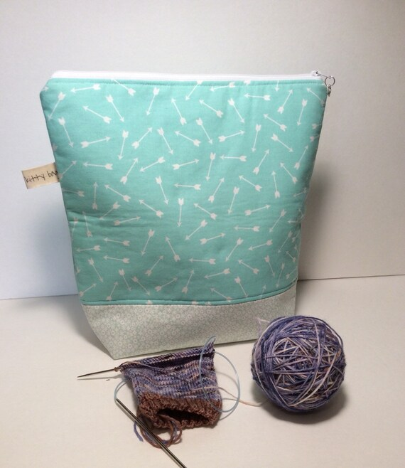 On Sale! Large Zippered Project Bag
