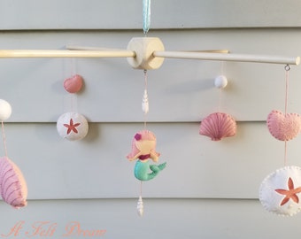 Mermaid Baby Mobile, Mermaid Nursery Decor