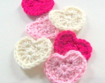 Heart Crochet Pattern, Instant Download, PDF Crochet Pattern, Applique Pattern, Embellishment Pattern, Easy Crochet Pattern, Motif Pattern