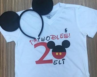I'm Twodles Birthday Shirt, Mickey Mouse Birthday Shirt, Personalized Mickey Mouse Birthday Shirt, Mickey Mouse Second Birthday Shirt
