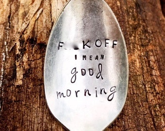 Silver Spoon, Hand Stamped Spoon, Funny Gifts, Sugar Spoon, Gag Gift, Adult Humor, Boyfriend Gift, Husband Gift, Fiance Gift, Gift For Him