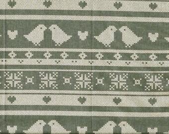 Tissu coton motifs scandinaves -  gris foncé/creme - pour loisirs créatifs
