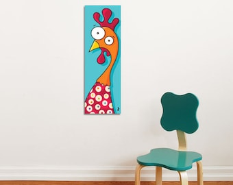 Rooster - Canvas - Color Print