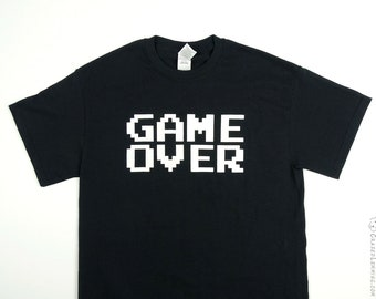GAME OVER Glow in the Dark Shirt by Crazed Lemming