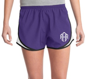 Purple Monogrammed Shorts, Personalized Running Shorts, Work Out Shorts, Gym Shorts, Monogrammed Running Shorts, Personalized Shorts