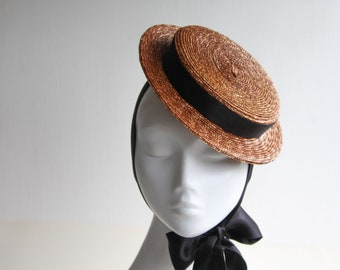 The Silk Monroe - Boater Hat