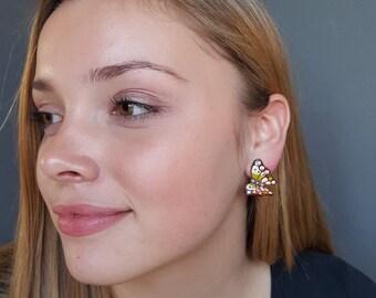 Butterfly Earrings, Party Earrings, Unique Earrings, Gift for Women