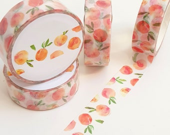 Pretty Peach Fruit Washi Tape