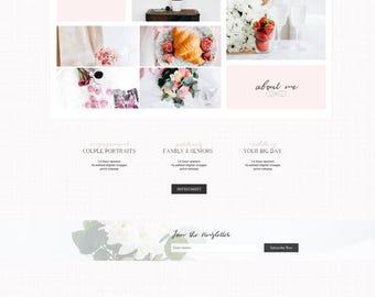 Photographer Wix Template Website, Photography, Portfolio, Wedding, Event Planner, Business, Pink, Girly, Feminine