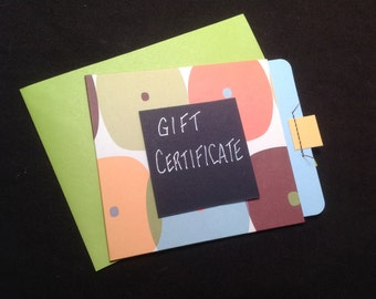 Gift Certificate...choose your amount from list