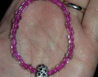 Pink Sparkle Beardie Necklace