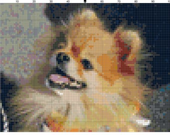 Cross stitch pomeranian dog pdf pattern