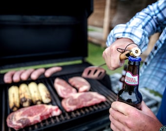 Father's Day Gift! BBQ Tools for Grilling that open your Beer! Bottle Opener Grilling Tools. BBQ Tools. Husband Gift. Dad Gift. Stepdad