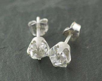 Large Stunning Clear Herkimer Diamond Earrings Eco Jewelry