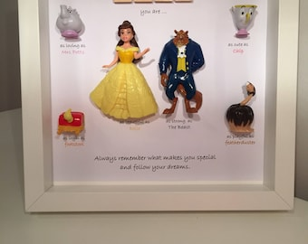 Disney Beauty and the Beast Frame. Beauty and the beast gift - caring words- BB Fans - Belle present