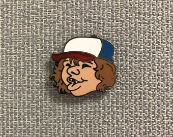 "Stranger Things Pin Dustin Enamel Pin ( 1"" hard enamel lapel pin or hat pin )"