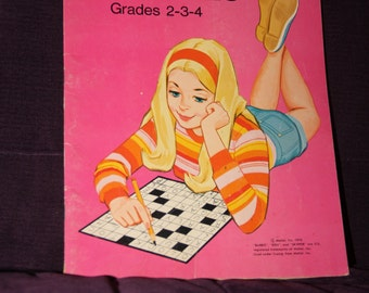 1970s Barbie Doll Crossword Puzzles Vintage circa 1976