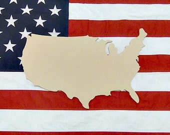 USA State Unfinished Wooden Shape, Paintable Wooden Craft