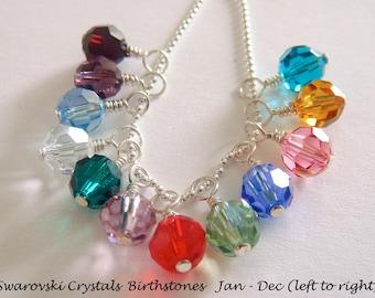 Add A Swarovski Crystal Charm - Hand Stamped Jewelry - Personalized Necklace