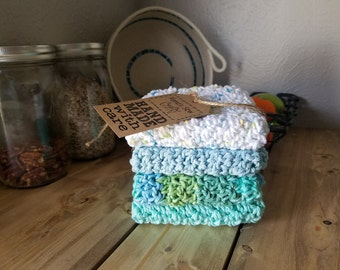 Handmade Cotton Crochet Dishcloths