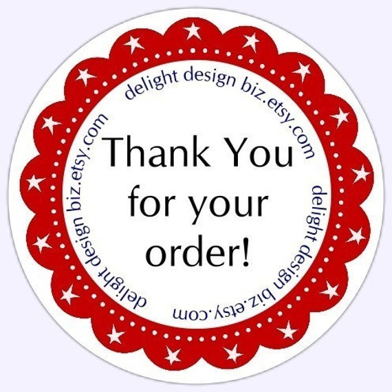 Thank you stickers business labels customer appreciation