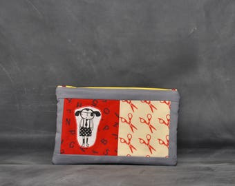 Don't run with scissors - zippered case