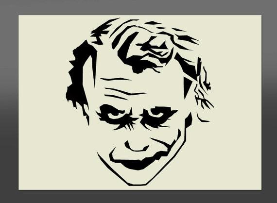 Visage joker batman pochoir diff rentes tailles de haute - Le joker dessin ...